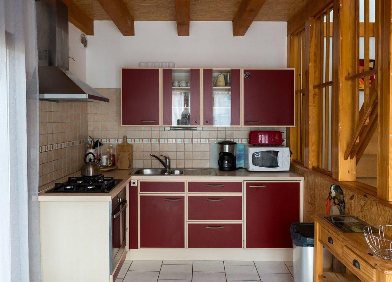 La cuisine du gîte le pin
